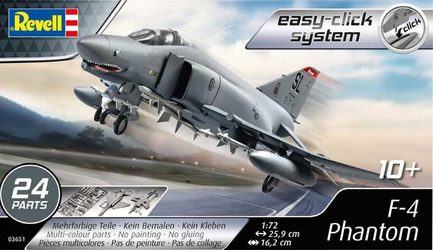 Revell F-4 Phantom Easy Click 1:72 03651