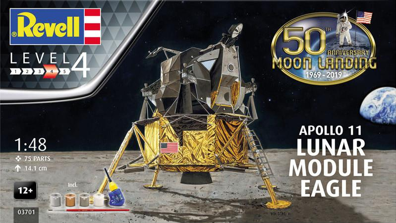 Revell Apollo 11 Lunar Module Eagle (50 Years Moon Landing) 1:48 03701