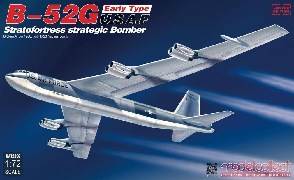 Modelcollect B-52G Early Type U.S.A.F Stratofortress Strategic Bomber 1:72 UA72207
