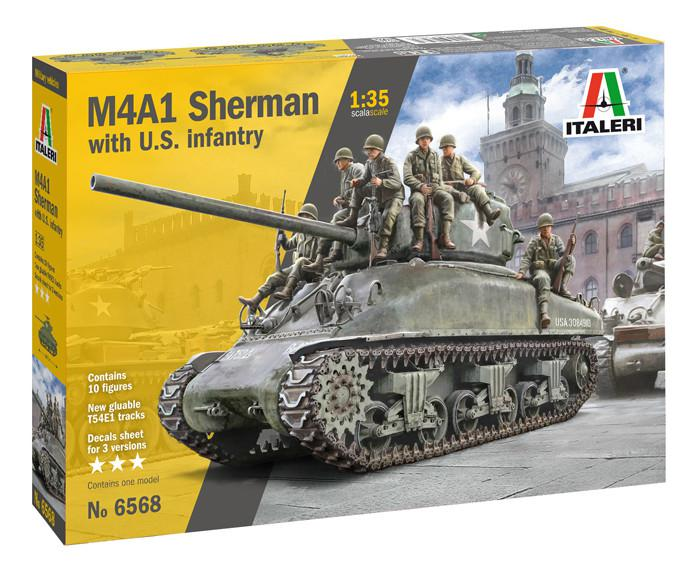 Italeri M4A1 Sherman with U.S. Infantry 1:35 6568