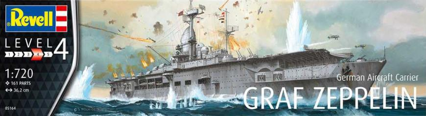 Revell German Aircraft Carrier Graf Zeppelin 1:720 05164