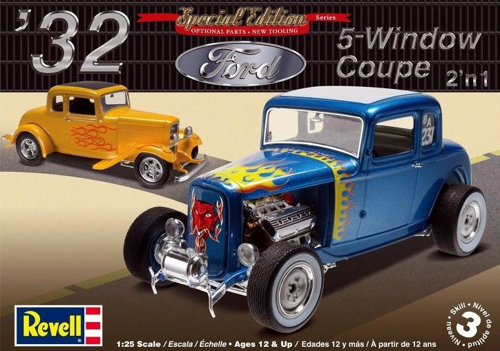 Revell 32 Ford 5 Window Coupe 1:25 85-4228