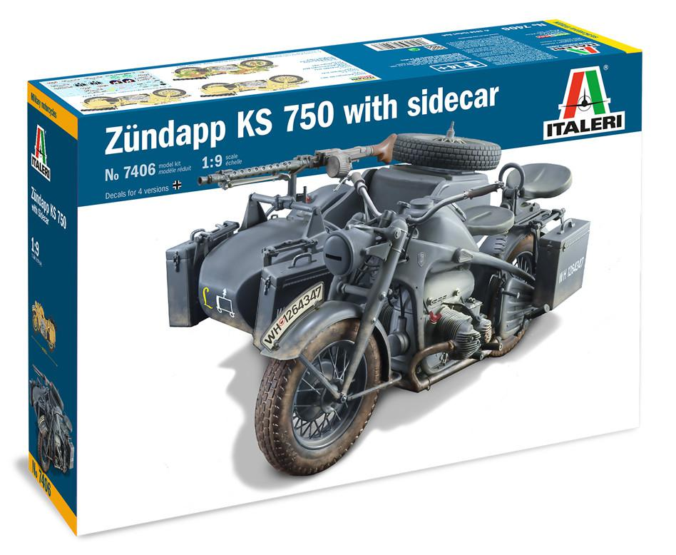Italeri Zundapp KS 750 with sidecar 1:9 7406