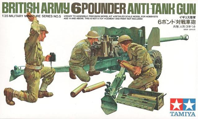 Tamiya British 6-Pounder Anti-Tank Gun 1:35 35005