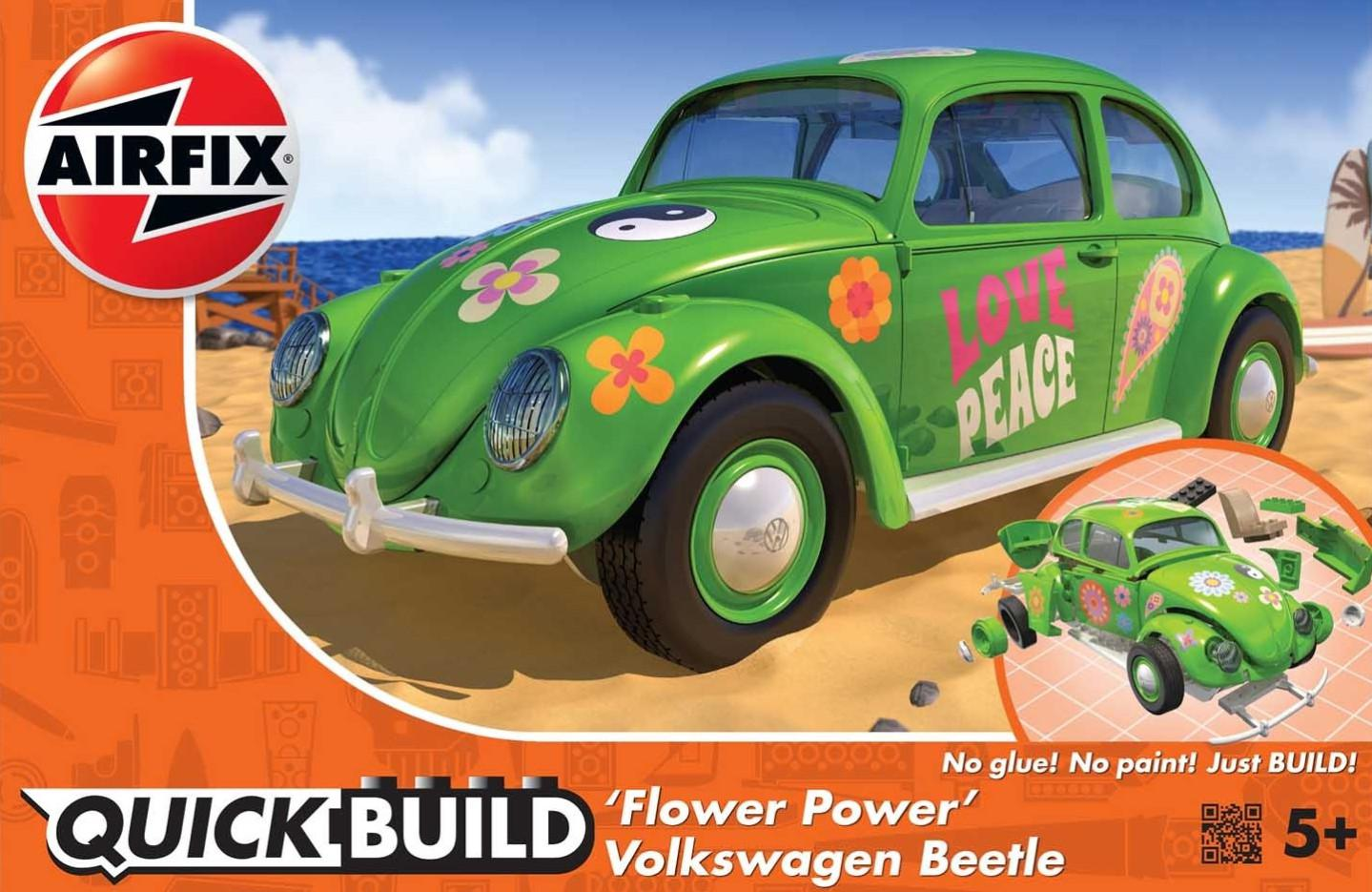 Airfix VW Beetle Flower Power Qiuck Build J6031