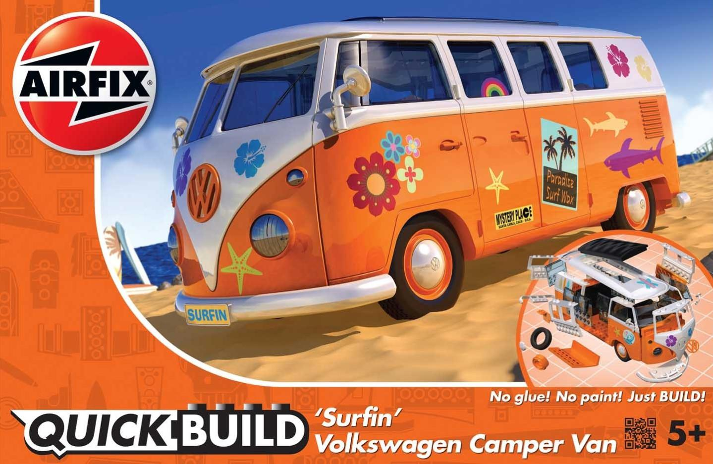 Airfix VW Camper Surfin Qiuck Build J6032