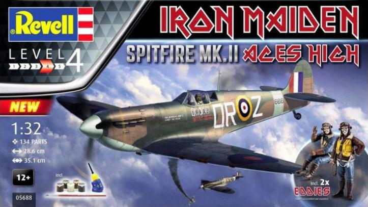 Revell Spitfire Mk.II Aces High Iron Maiden Gift Set 1:32 05688
