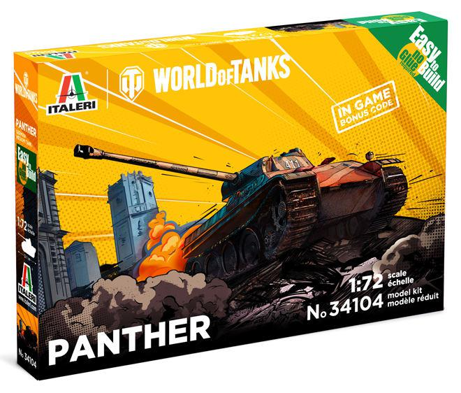 Italeri World of Tanks Panther Easy to Build 1:72 34104
