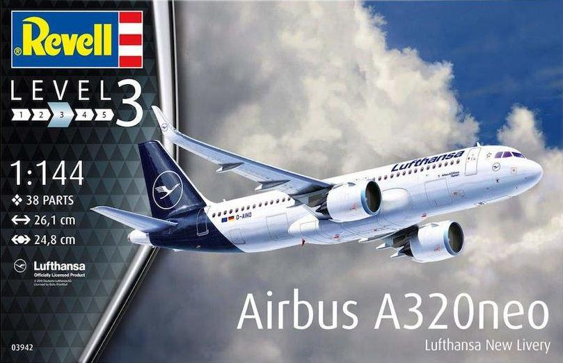 Revell Airbus A320 Neo Lufthansa New Livery 1:144 03942
