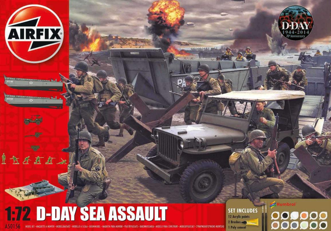 Airfix D-Day 75th Anniversary Sea Assault Gift Set diorama 1:72 A50156A