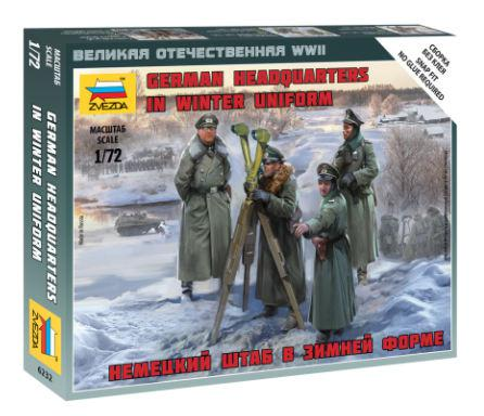Zvezda figurky German Headquarters in winter uniform 1:72 6232