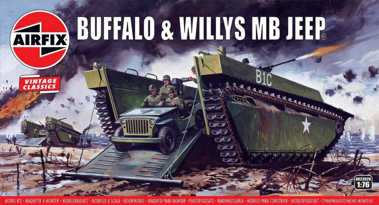 Airfix Buffalo Willys MB Jeep 1:76 A02302V