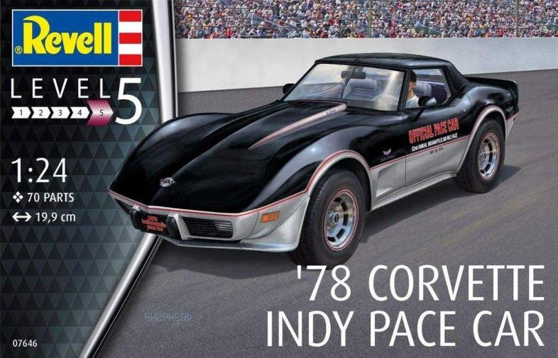 Revell 78 Corvette Indy Pace Car 1:24 07646