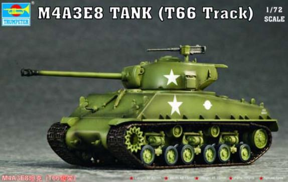 Trumpeter M4A3E8 Tank T66 Track 1:72 07225