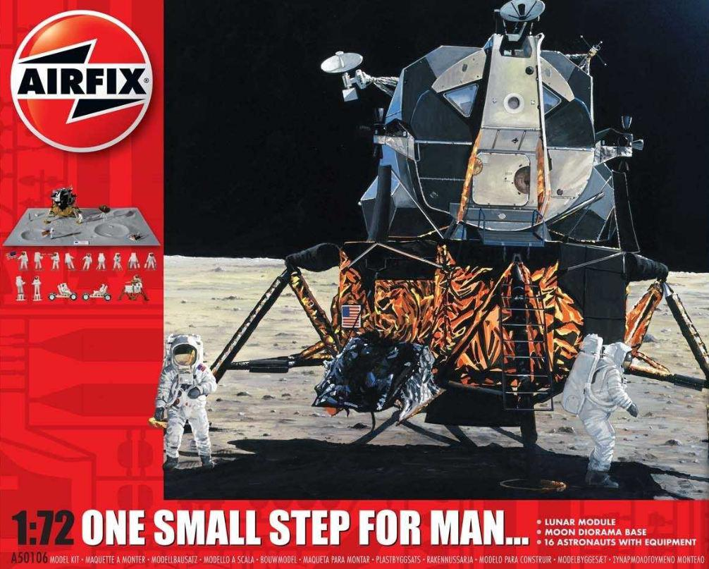 Airfix One Step for Man 50th Anniversary of 1st Manned Moon Landing Model Set 1:72 A50106