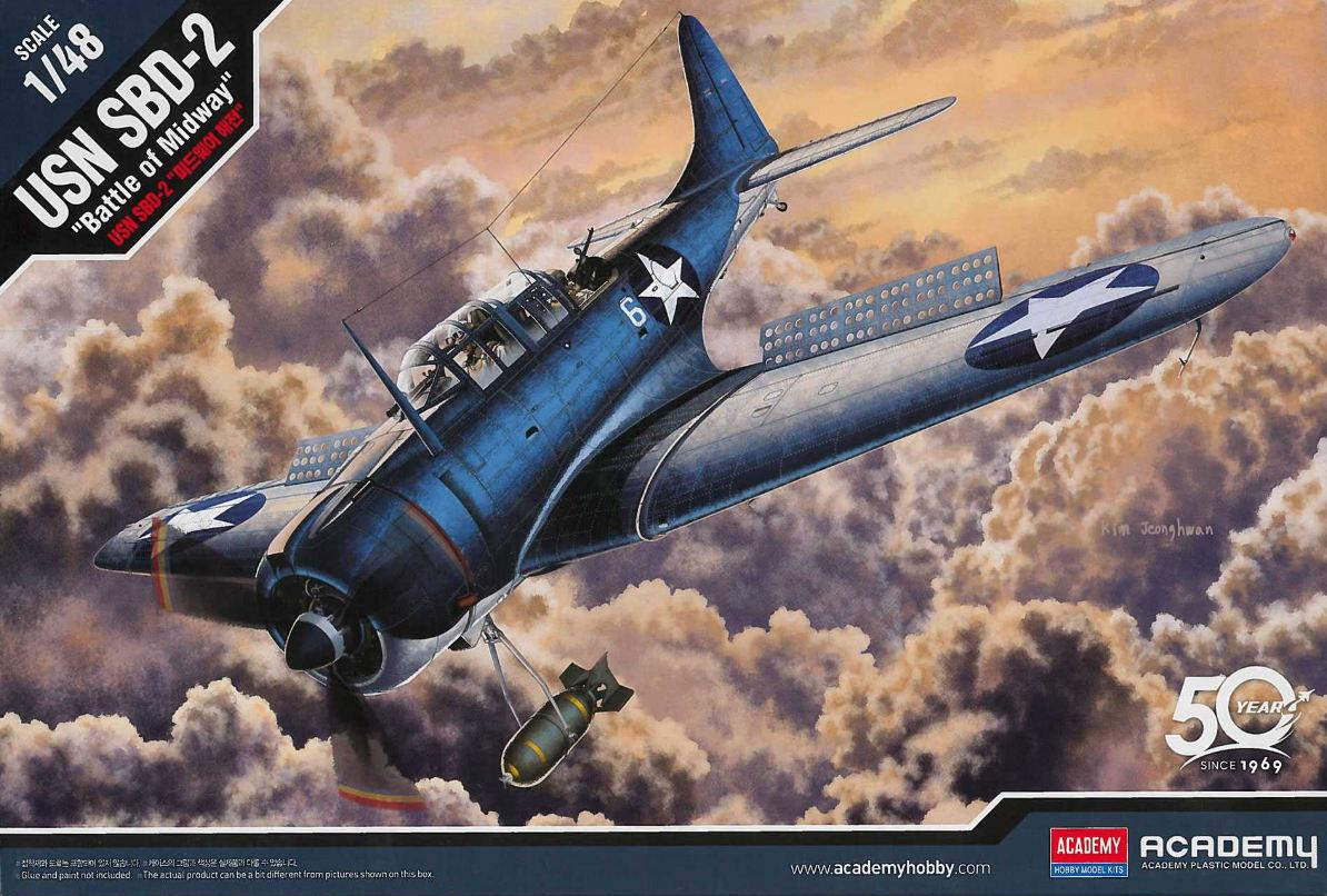 Academy USN SBD-2 Midway 1:48 12335