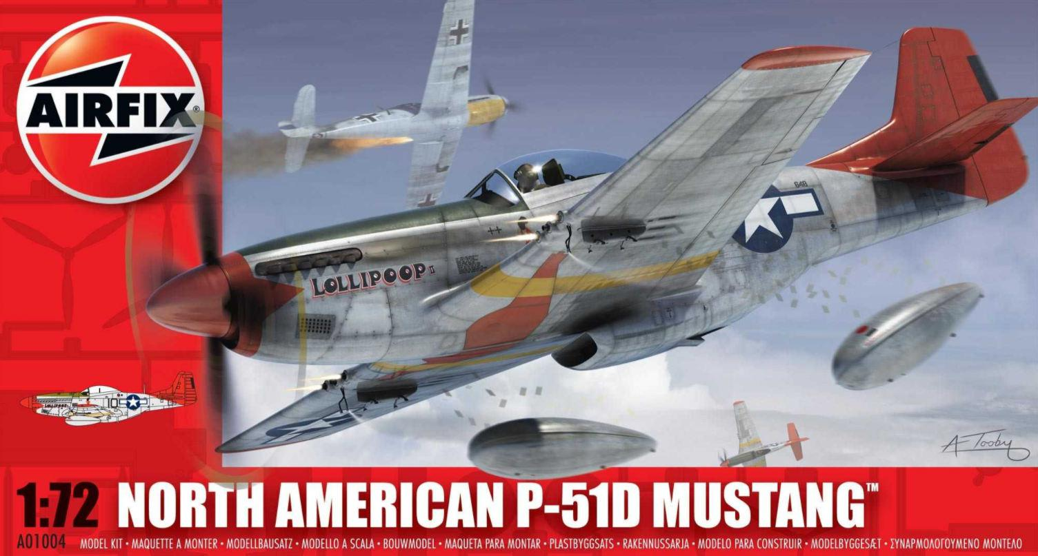Airfix North American P-51D Mustang 1:72 A01004