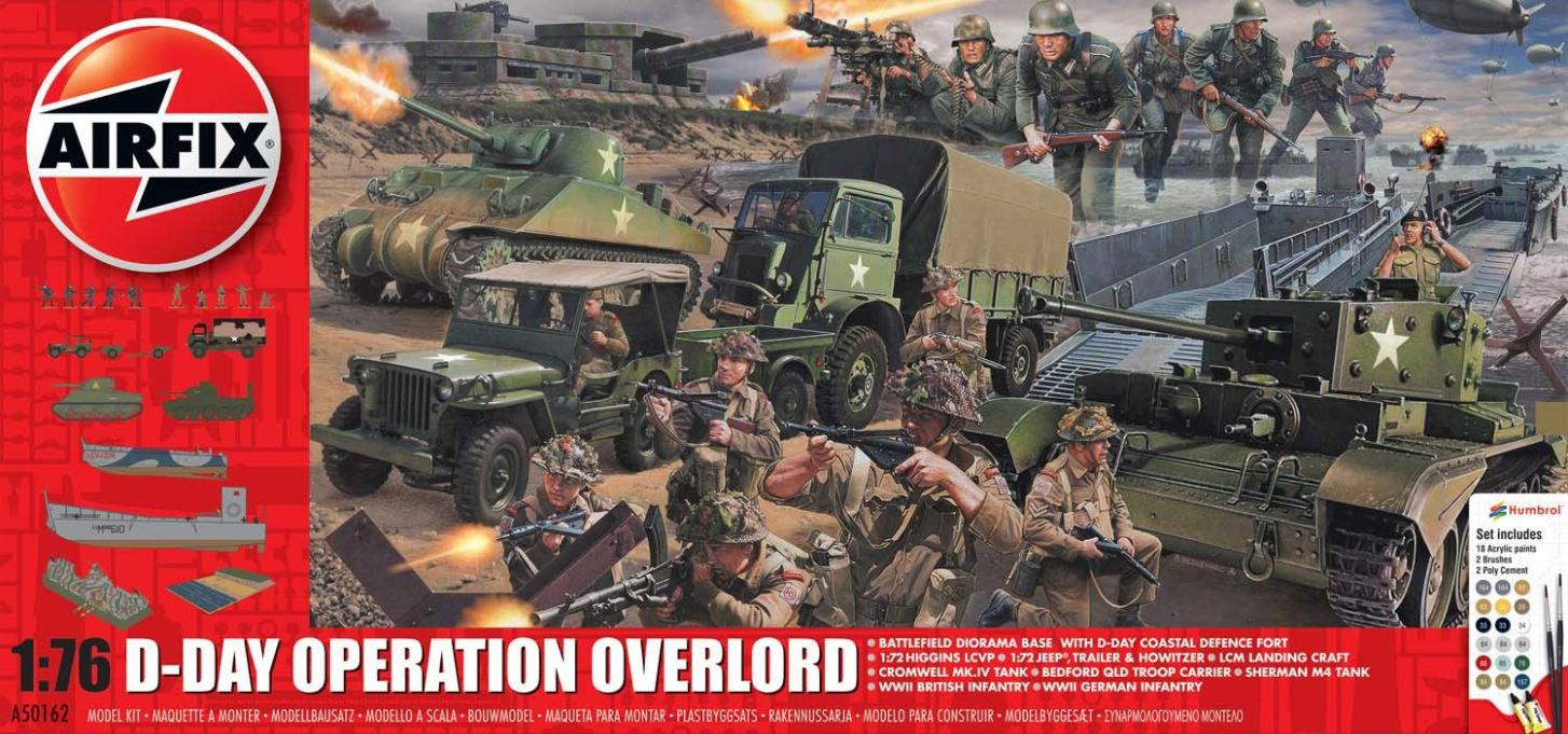 Airfix D-Day 75th Anniversary Operation Overlord Gift Set 1:76 A50162A