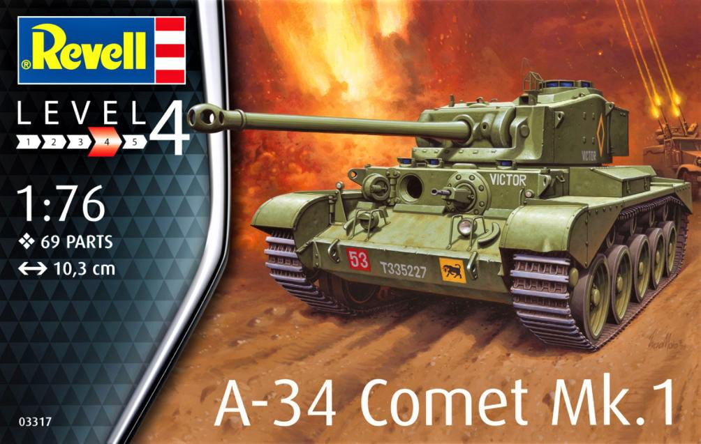 Revell A-34 Comet Mk.1 1:76 03317