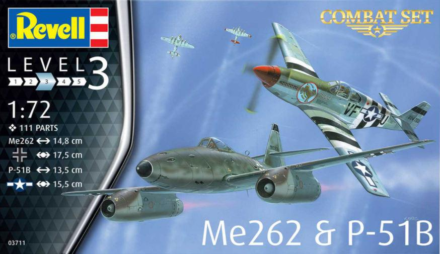 Revell Me262 a P-51B 1:72 03711