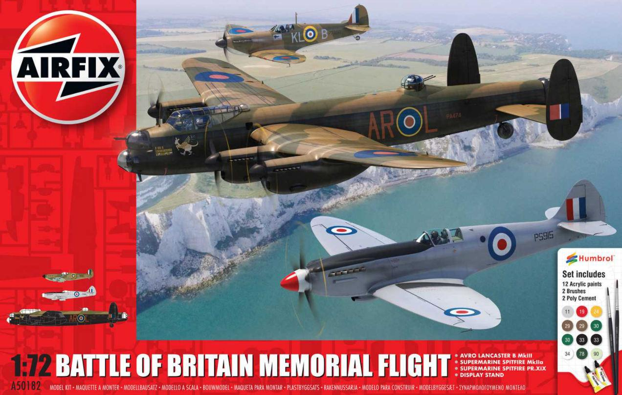Airfix Battle of Britain Memorial Flight Gift Set 1:72 A50182