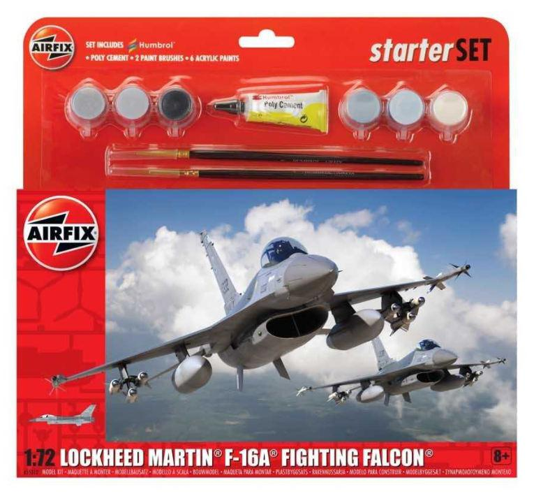 Airfix General Dynamics F-16A/B Fighting Falcon Starter Set 1:72 A55312