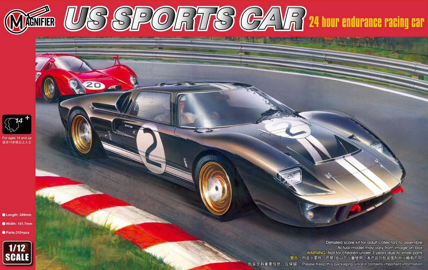 Magnifier Ford GT40 Mk.II 1966 Le Mans Winning GT Coupe 1:12 00019