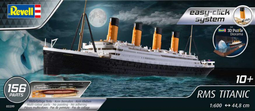 Revell RMS Titanic + 3D Puzzle Easy Click 1:600 05599
