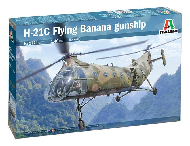 Italeri H-21C Flying Banana GunShip 1:48 2774