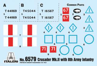 Italeri Crusader Mk. II with 8th Army Infantry 1:35 6579