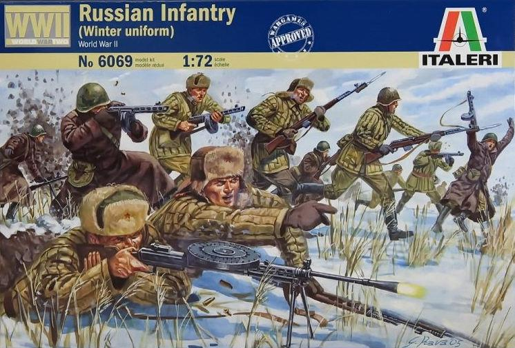 Italeri figurky Russian Infantry Winter Uniform 1:72 6069