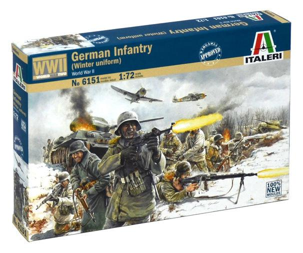 Italeri figurky WWII German Infantry Winter Uniform 1:72 6151